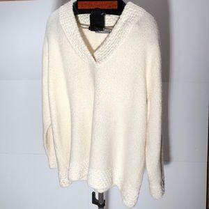 Liz Claiborne plus size 3X cream winter sweater